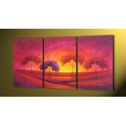 """""""pink sunset"""" bardzo nastrojowy obrazy nowoczesne w technice strukturalnej Akryl"""