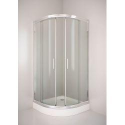 Kabina prysznicowa półokrągła SIGMA 90 chrom, szkło transparentne
