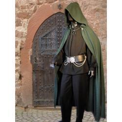 Płaszcz średniowieczny magiczny z kapturem - dla maga lub czarownicy - różne kolory