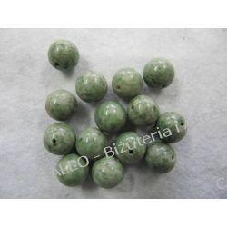 Jadeit - kulka 14mm Biżuteria - półprodukty