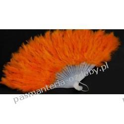 WACHLARZ Z PIÓR MARABUTA - kolor pomarańczowy Przedmioty do ozdabiania