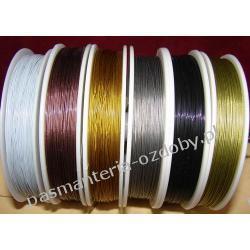 Linka stalowa jubilerska  - 0,45mm  różne kolory 1 metr