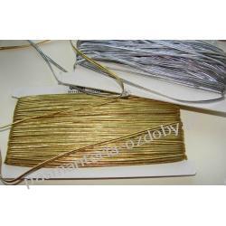 SUTASZ sznurek czeski PEGA 4 mm złoty i srebrny