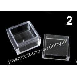 POJEMNICZEK PLASTIKOWY kwadrat 2,5x2,5cm Koraliki i cekiny
