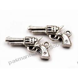 ZAWIESZKI CHARMS PISTOLET 12x22mm Koraliki i cekiny