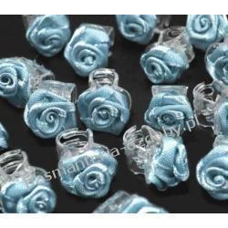 Spinki żabki z różyczką do włosów 1,5cm błękitne Akcesoria i gadżety