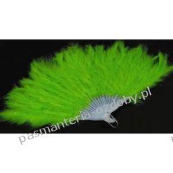 WACHLARZ Z PIÓR MARABUTA - -zielony Przebrania, kostiumy, maski