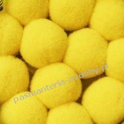 POMPONY, POMPONIKI OZDOBNE duże 2cm/1szt - żółty Koraliki i cekiny