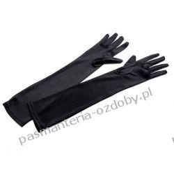 RĘKAWICE WIECZOROWE dł. 45cm - czarny Przebrania, kostiumy, maski