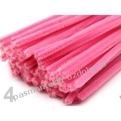 Drut /druciki kreatywne plusz 6mm/30cm - różowy Przedmioty do ozdabiania