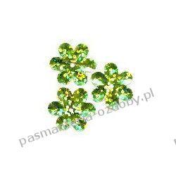 CEKINY LASEROWE KWIATKI 15mm 5g (ok.100szt) - zielony Przedmioty do ozdabiania