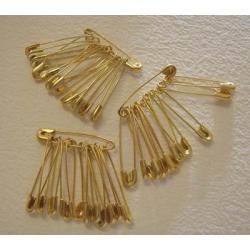 AGRAFKI złote 29 mm tuzin (12sztuk) Akcesoria i gadżety