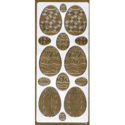 STICKERSY naklejki WIELKANOC jajka wielkanocne ZŁOTE I SREBRNE Przedmioty do ozdabiania
