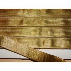 TAŚMA metalizowana złota szeroka 16 mm/1metr Przedmioty do ozdabiania