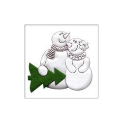 APLIKACJE - PARA BAŁWANKÓW Z CHOINKĄ Akcesoria i gadżety