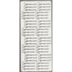 STICKERSY NAKLEJKI napis ZAPROSZENIE srebrne Koraliki i cekiny