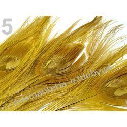 PAWIE  PIÓRA,  PIÓRKA 25-30cm  - żółty Przedmioty do ozdabiania