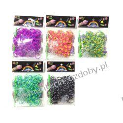 Gumki do Rainbow Loom 200szt kolorowe paski Akcesoria i gadżety