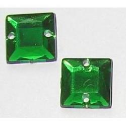 DŻETY kamienie kwadraty do przyszycia 8mm KOLOR CIEMNA ZIELEŃ Akcesoria i gadżety