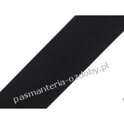 TAŚMA PARCIANA, NOŚNA 25mm (do toreb itp) 1m - czarna Koraliki i cekiny