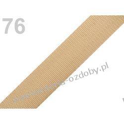 TAŚMA PARCIANA, NOŚNA 24mm (do toreb itp) 1m - beżowa Koraliki i cekiny
