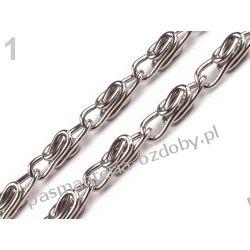 Łańcuszek do torebki z zapięciem 90cm - kolor srebrny