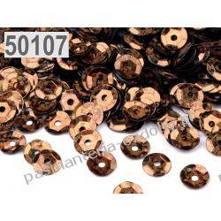 CEKINY KOŁA ŁAMANE LASEROWE 6mm 6g (ok 500szt) - brązowy Przedmioty do ozdabiania