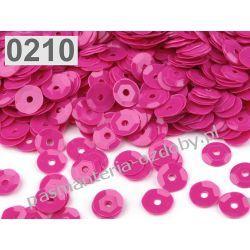 CEKINY KOŁA ŁAMANE 6mm 6g (ok 500szt) - ciemny różowy Koraliki i cekiny