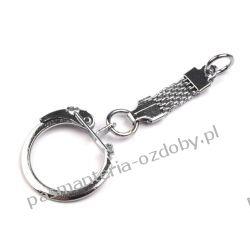 Brelok do kluczy z karabińczykiem i pętelką 1 SZT Biżuteria - półprodukty