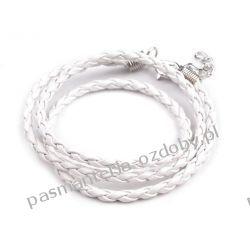 BAZA DO NASZYJNIKA RZEMIEŃ RZEMYK pleciony - biały Biżuteria - półprodukty