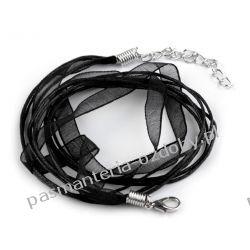BAZA DO NASZYJNIKA sznurek z tasiemką - czarny Biżuteria - półprodukty