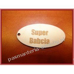 """TABLICZKI """"SUPER BABCIA"""" (NP. DO BRELOKA) Decoupage"""