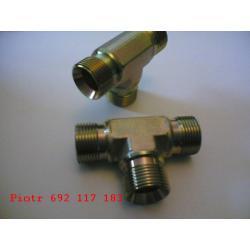 """złącze hydrauliczne trójnik 3/8"""" - 3/8"""" - 3/8"""" BBB"""