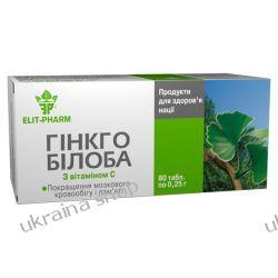 Miłorząb Japoński (Ginkgo Biloba), 80 tab. 40 mg, Żylaki, Obrzęki Mydła