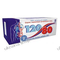 120/80 (Dihydroquercetin (taxifolin), Magnez, L-karnityna, Głóg, Witaminy A,E,C), 80 tab. Nadciśnienie, Miażdżyca