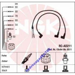 PRZEWODY ZAPLONOWE NGK AUDI 80 A6 VW PASSAT 2.3 E