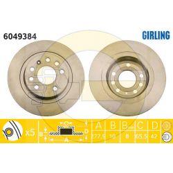 6049384 GIR 6049384 TARCZA HAMULCOWA 278X10 P 5-OTW OPEL ASTRA H/ZAFIRA 05 SZT GIRLING TARCZE GIRLING [880934]...