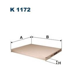 K 1172 F K1172 FILTR KABINOWY ALFA ROMEO MITO/GRANDE PUNTO/OPEL CORSA D SZT FILTRY FILTRON [887072]...