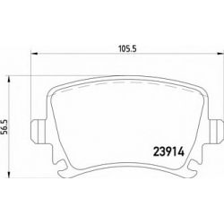 2391401 TX 2391401 KLOCKI HAMULCOWE AUDI A3/A6/SKODA OCTAVIA/VW GOLF 17.2MM WVA23914 ZE SRUBAMI KPL TEXTAR KLOCKI TEXTAR [905683]...