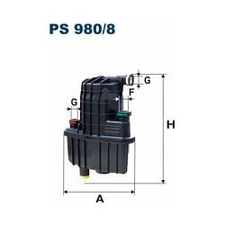 PS 980/8 F PS980/8 FILTR PALIWA RENAULT CLIO III/MODUS 1.5DCI SZT FILTRY FILTRON [920750]...