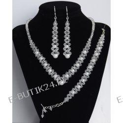 UNIVIA* Komplet biżuterii PERŁY długie kolczyki Biżuteria ślubna