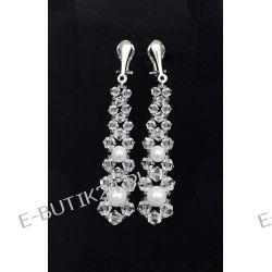 UNIVIA* Biżuteria ślubna KOLCZYKI perły KLIPSY Biżuteria i Zegarki