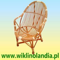 Fotele wiklinowe Muszla z podłokietnikami