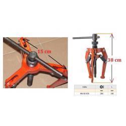 Uniwersalny ściągacz do łożysk 0 - 250 mm Trzyszczękowy KUTY