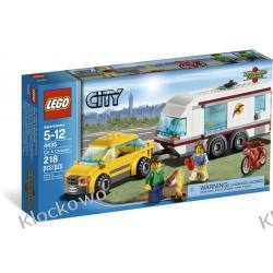 4435 SAMOCHÓD Z PRZYCZEPĄ KEMPINGOWĄ (Car and Camper) KLOCKI LEGO CITY