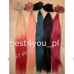 Dopinki!Taśmy Clip In!Włosy Naturalne!Kolorowe!