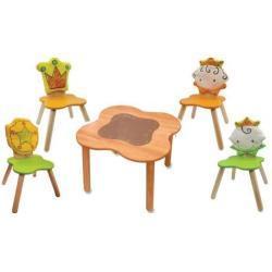 Stolik z czterem krzesełkami - seria Królestwo