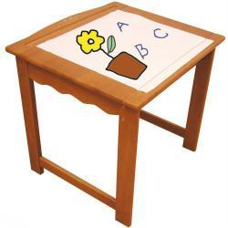 Klasyczne drewniany stolik malarski dla dzieci