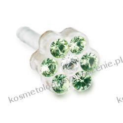 Kolczyk do przekłuwania uszu -12-0114-44 DAISY 5mm Peridot/ Crysta