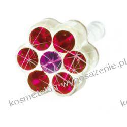 Kolczyk do przekłuwania uszu -12-0114-48 DAISY 5mm Ruby/ Rose